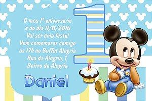 Convite digital personalizado Primeiro Aniversário 033