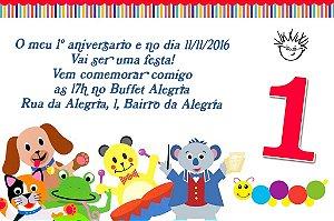 Convite digital personalizado Primeiro Aniversário 036
