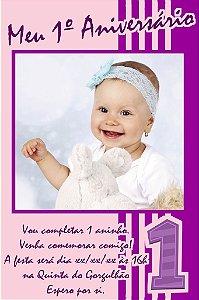 Convite digital personalizado Primeiro Aniversário 055