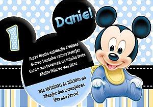 Convite digital personalizado Primeiro Aniversário 056