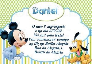 Convite digital personalizado Primeiro Aniversário 059