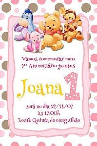 Convite digital personalizado Primeiro Aniversário 077