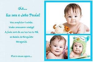 Convite digital personalizado Primeiro Aniversário 082