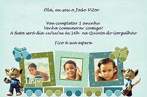 Convite digital personalizado Primeiro Aniversário 090