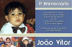 Convite digital personalizado Primeiro Aniversário 097