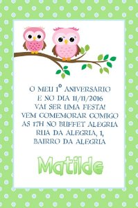 Convite digital personalizado Primeiro Aniversário 101