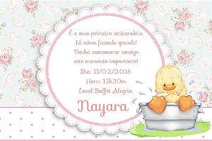 Convite digital personalizado Primeiro Aniversário 120