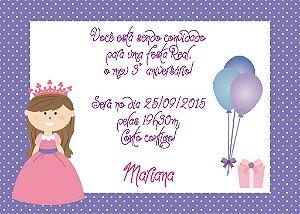 Convite digital personalizado Princesa 007