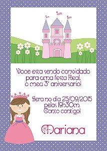 Convite digital personalizado Princesa 010