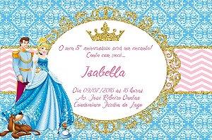 Convite digital personalizado Cinderela Royal Party 002