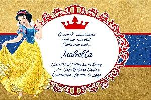 Convite digital personalizado Branca de Neve Royal Party 005