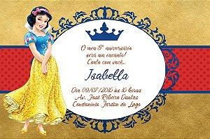 Convite digital personalizado Branca de Neve Royal Party 006