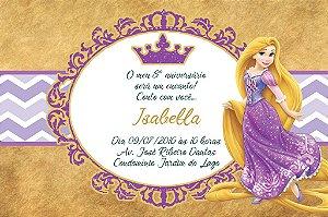 Convite digital personalizado Princesa Rapunzel Enrolados Royal Party 013