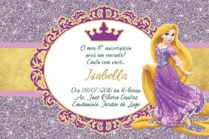Convite digital personalizado Princesa Rapunzel Enrolados Royal Party 014