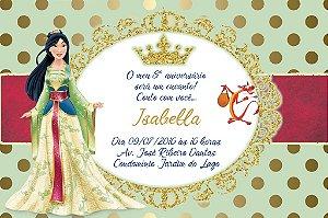 Convite digital personalizado Mulan Royal Party 017