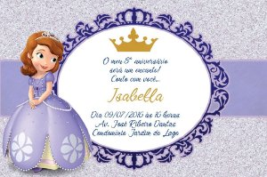 Convite digital personalizado Princesa Sofia Royal Party 020