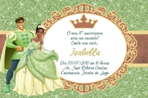 Convite digital personalizado A Princesa e o Sapo Royal Party 024