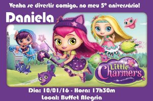 Convite digital personalizado Little Charmers 003
