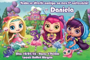 Convite digital personalizado Little Charmers 004