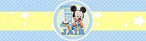 Rótulo água Baby Disney