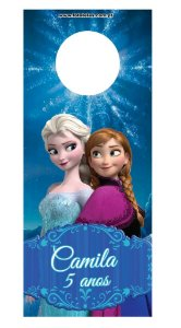 Tag Para Garrafa Frozen com foto