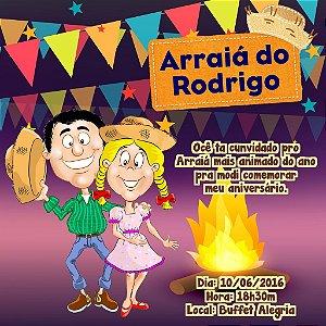 Convite digital personalizado Festa Junina 007