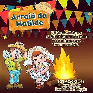 Convite digital personalizado Festa Junina 008