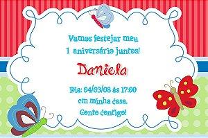 Convite digital personalizado Borboletas 006