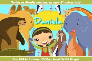 Convite digital personalizado Willa e os Animais 002
