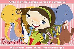 Convite digital personalizado Willa e os Animais 003