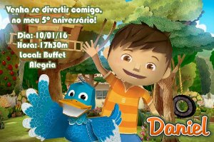 Convite digital personalizado Zack & Quack 003