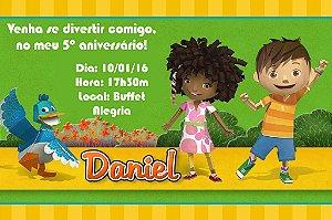 Convite digital personalizado Zack & Quack 004