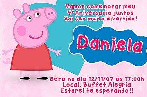 Convite digital personalizado Peppa Pig 007