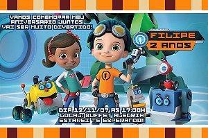 Convite digital personalizado Rusty Rivets 001