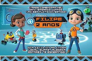 Convite digital personalizado Rusty Rivets 002
