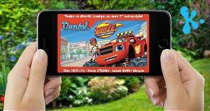 Convite digital personalizado Blaze and the Monster Machines 002