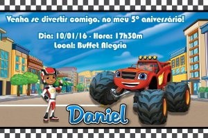 Convite digital personalizado Blaze and the Monster Machines 003