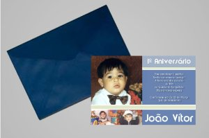 Convite 10x15 Primeiro Aniversário 097
