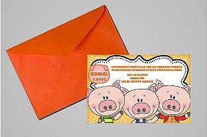 Convite 10x15 Os Três Porquinhos 006