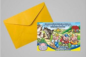 Convite 10x15 Os Três Porquinhos 007