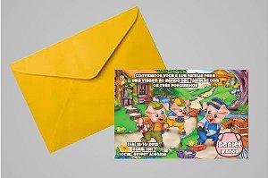 Convite 10x15 Os Três Porquinhos 009