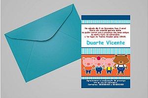 Convite 10x15 Os Três Porquinhos 015