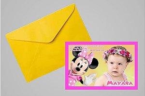 Convite 10x15 A Casa do Mickey Mouse 002 com foto