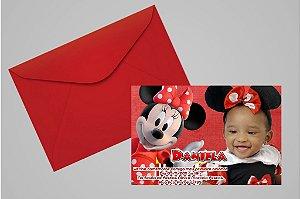 Convite 10x15 Minnie 002 com foto