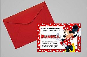 Convite 10x15 Minnie 005