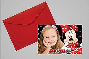 Convite 10x15 Minnie 009 com foto