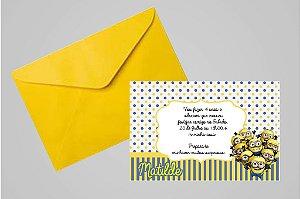 Convite 10x15 Minions 006