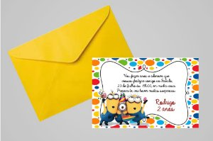 Convite 10x15 Minions 007