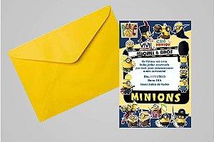 Convite 10x15 Minions 008