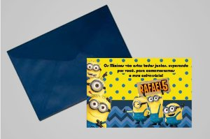 Convite 10x15 Minions 010